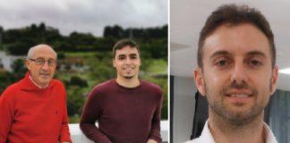 Gilberto Pérez, Brais Muñiz e Álvaro Goyanes, investigadores implicados no desenvolvemento do software. Foto: CiTIC/FabRx,
