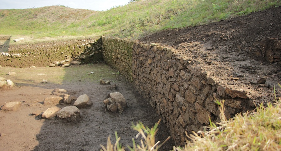 Detalle da muralla do castro das Barreiras. Foto: Concello de Vimianzo.