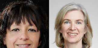 Emmanuelle Charpentier and Jennifer A. Doudna, galardoadas co Premio Nobel de Química 2020. Fotos: Bianca Fioretti / Duncanl Hull.