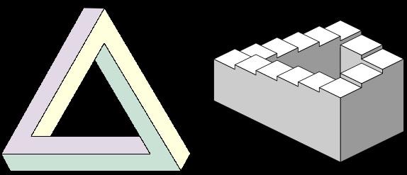 Triángulo e escaleira de Penrose.