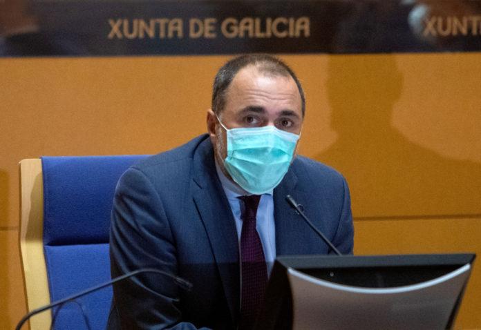 O conselleiro de Sanidade, Julio García Comesaña, nunha comparecencia celebrada a pasada semana. Foto: Xunta de Galicia.