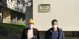 José Ramom Pichel (esquerda), xunto a Paulo Gamalho, investigador do CiTIUS e director da tese.