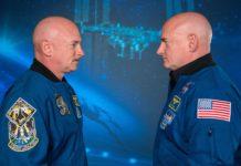 Mark (esquerda) e Scott Kelly, xemelgos astronautas nos que se estudou a influencia das viaxes ao espazo do organismo. Foto: NASA.
