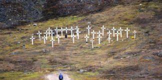 Cemiterio de vítimas da gripe de 1918 na illa ártica de Svalbard. Foto: Visit Svalbard.