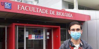 Yeray Folgar estuda na Facultade de Bioloxía da USC. Foto: USC.