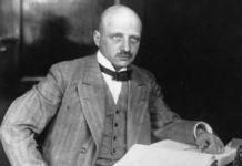 Fritz Haber, impulsor dos fertilizantes artificiais, mais tamén dos gases tóxicos usados na Gran Guerra. Fonte: Britannica.