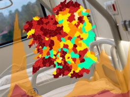 A incidencia acumulada disparouse nas últimas semanas en Galicia. Imaxe: Xunta/Datawrapper/Elaboración propia.