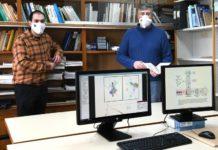 Alejandro Carballosa e Alberto Pérez Muñuzuri, dous dos investigadores da USC que analizan a influencia dunha sociedade polarizada na pandemia. Foto: Santi Alvite.