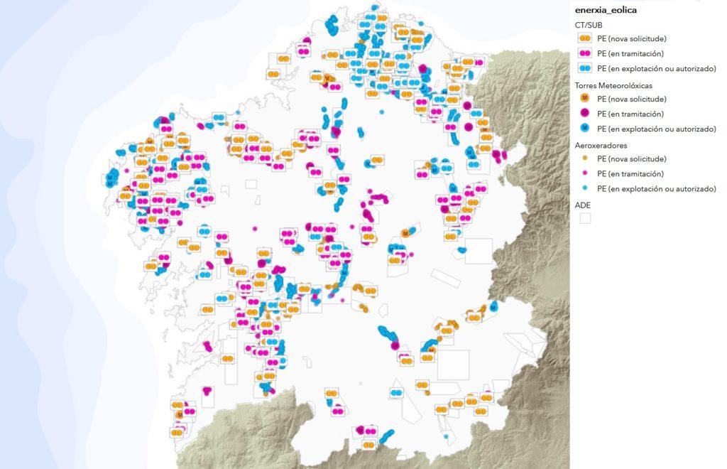 Fonte: Rexistro Eólico da Xunta de Galicia,