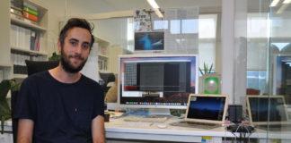 João Alves no Laboratorio de Filoxenómica da Universidade de Vigo. Foto: UVigo.