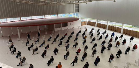 Xornada de vacinación masiva en Galicia no primeiro trimestre de 2021. Foto: Consellería de Sanidade.
