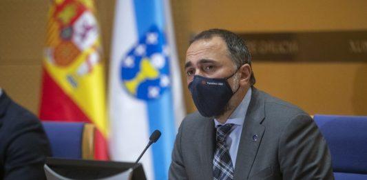 Comparecencia do conselleiro de Sanidade, Julio García Comesaña, este mércores 10 de marzo. Foto: Xunta de Galicia.