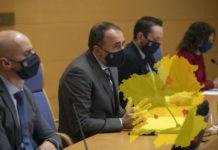 Comparecencia do conselleiro de Sanidade xunto a outros responsables do Sergas o pasado mércores. Foto: Xunta de Galicia.