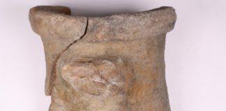 A ánfora foi atopada hai varias décadas en augas próximas á illa de Cortegada. Foto: Duvi.