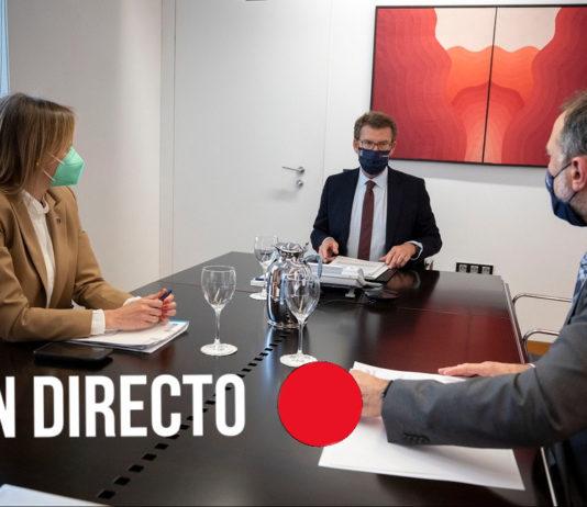 Comparecencia do presidente da Xunta logo do comité clínico. Foto: Xunta de Galicia.
