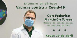 Encontro con Federico Martinón. Este xoves 29, ás 12.15 horas.