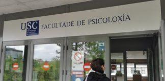 Adrián González e Lía Pereira, da Facultade de Psicoloxía, quedaron no posto 1 e 5 dos exames do PIR. Foto: Santi Alvite.