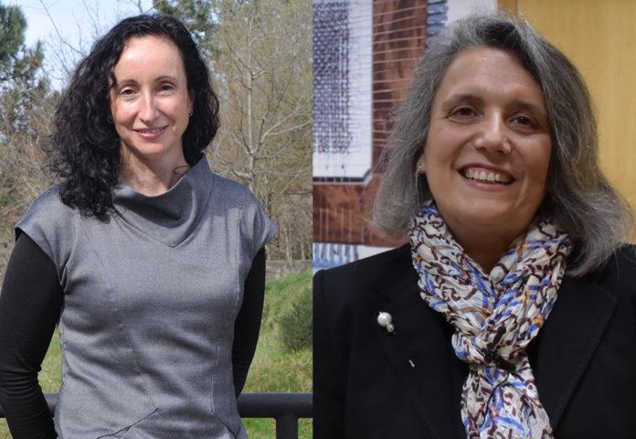 Rebeca P. Díaz Redondo e Alma Gómez, investigadoras da UVigo. Foto: Duvi.
