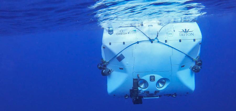 O DSV Limiting Factor abre unha nova xanela á exploración dos fondos mariños máis profundos. Foto: Triton Submarine.