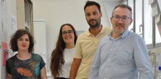 Lola Rueda, Ana Campos, Salvador Herrera e José Antonio Lamas, investigadores do Laboratorio de Neurociencia do Cinbio. Foto: Duvi.