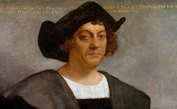 Retrato de Cristóbal Colón pintado por Sebastiano del Piombo.