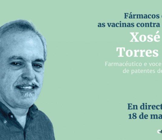 O encontro con Xosé María Torres terá lugar este martes 18 ás 20h.