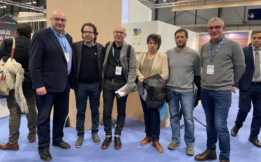 Representantes da candidatura do xeoparque de Cabo Ortegal, na edición de Fitur de 2019. Foto: Deputación da Coruña.