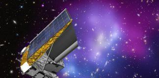 Ilustración da nave EUCLID, cuxo obxectivo é investigar a orixe e a expansión do universo. Foto: ESA.