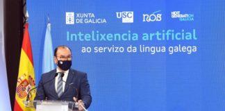 O reitor da USC, Antonio López, na presentación este martes do Proxecto Nós na Cidade da Cultura. Foto: Santi Alvite.