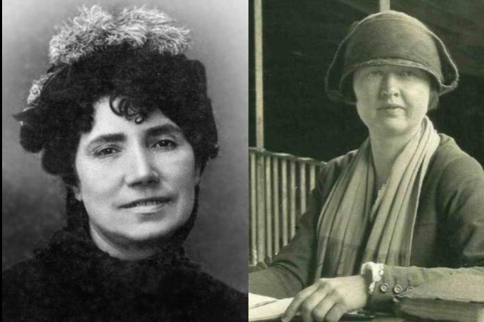 Rosalía de Castro (foto: Luis Seliier) e Ruth Matilda Anderson, en Oseira, en 1925.