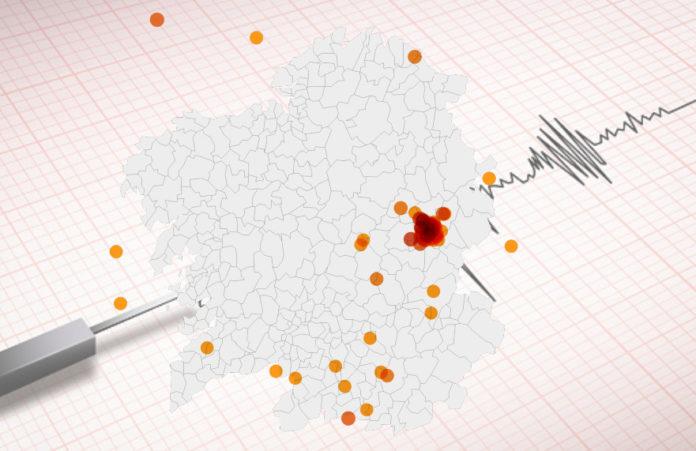 O tremor de magnitude 3,9 rexistrado en Laza foi o maior desde o ano 2000 en Galicia.