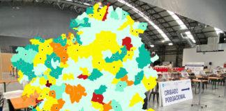 A incidencia da Covid-19 no conxunto de Galicia é estable nas últimas semanas, mais dispar a nivel municipal. Imaxe: Xunta de Galicia/elaboración propia.