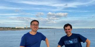 Os investigadores Alberto Naveira e Bieito Fernández, esta semana a bordo do 'Discovery'.
