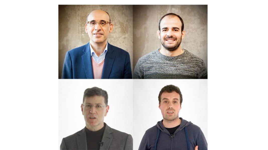 De esquerda a dereita: Fernando Pérez-González, Miguel Masciopinto, Fernández-Veiga e Alberto Pedrouzo-Ulloa. Foto: Duvi.
