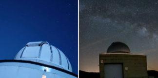 Observatorio de Forcarei (esquerda) e Cotobade (dereita). Imaxes: Fundación Ceo, Ciencia e Cultura/Ángel R.D. Arós.