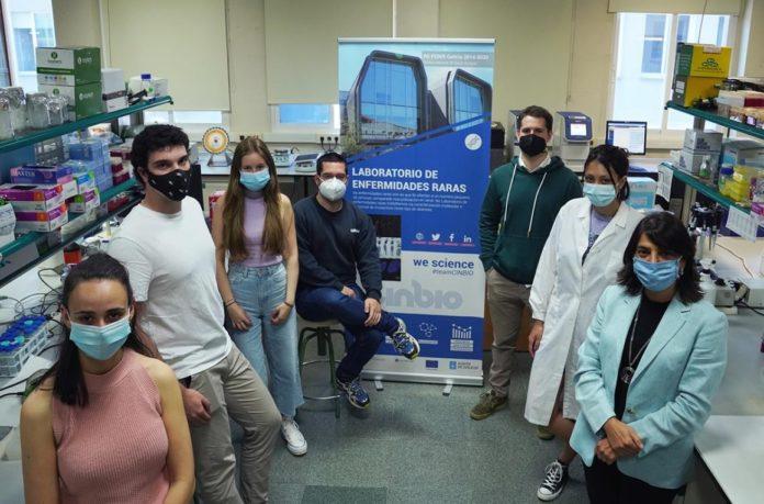 Equipo do Laboratorio de Enfermidades Raras do CINBIO. Foto: DUVI.