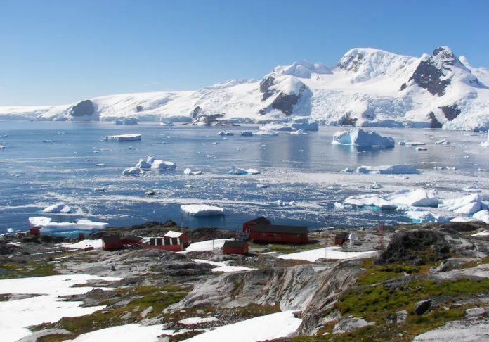 Paisaxe de caleta Cierva, na Antártida. Foto: Miguel Ángel Otero Soliño.