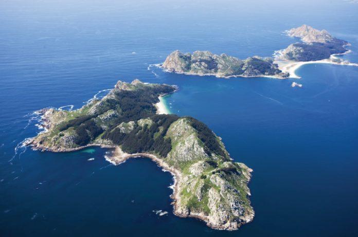 Vista aérea das Illas Cíes. Foto: Concello de Vigo.