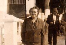 Jimena Fernández de la Vega, no ano 1960 en Lanjarón, Granada, onde se xubilou como directora do balneario. Imaxe: Arquivo familiar.
