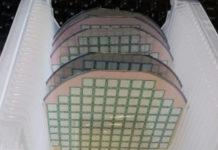 Obleas de silicio que compoñen o prototipo para a detección de radon. Fonte: IMB-CNM-CSIC.