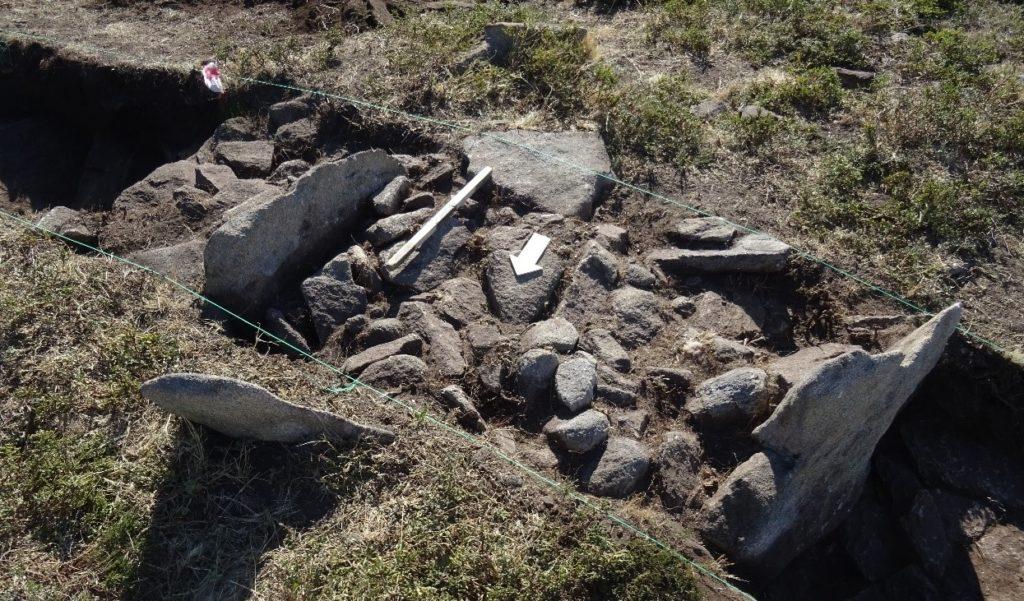 Detalle dunha das sondaxes realizadas na Lomba do Mouro. Foto: Era-Arqueologia.