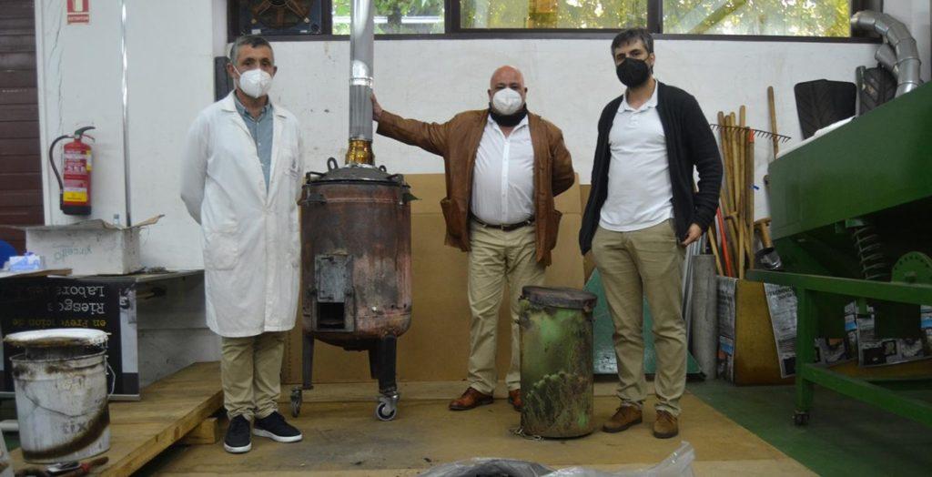 Antonio Vázquez, Luis Ortiz e Óscar González Prieto, do Laboratorio de Enerxías Xiloxeradas. Foto: Duvi.