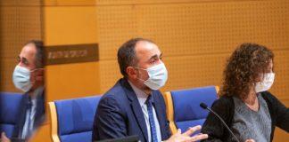 Comparecencia do conselleiro de Sanidade, Julio García Comesaña, o pasado 14 de xullo de 2021. Foto: Xunta de Galicia.