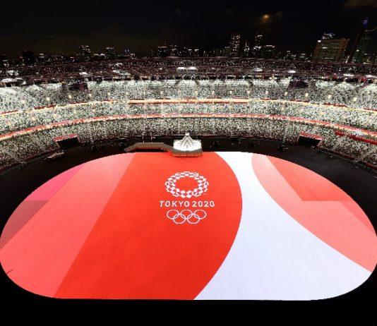 Cerimonia de inauguración dos Xogos Olímpicos de Tokio, este venres 23 de xullo. Fonte: @Tokyo202es/Twitter.