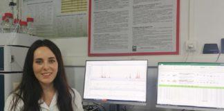 Rocio Facorro, no Laboratorio de Investigación e Desenvolvemento de Solucións Analíticas. Foto: Duvi.