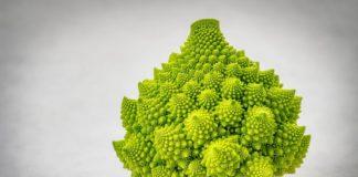 O brócoli romanesco é unha variedade de brásica cunha peculiar forma. Foto: Pixabay.
