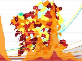 Máis de 30 municipios superan a taxa de incidencia de 500 casos/100.000 habitantes nos últimos 14 días.