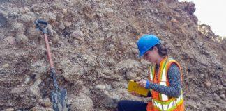 Depósitos sedimentarios xerados polo fluxo de auga que provocou o baleirado do lago Agassiz.. Foto: Sophie Norris.