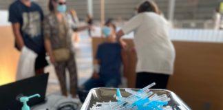 Punto de vacinación instalado en Pontevedra. Foto; Xunta de Galicia.