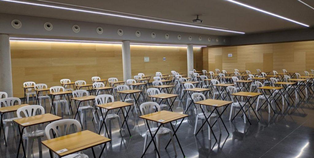 Aula do Campus Auga na que se realizou a análise. Foto: Duvi.